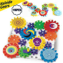Kaleido Gears Building Set with Mosaic Mushroom Nails Construction Kit,Kaleidoscope Gear Combination Kit Educational toys(China)