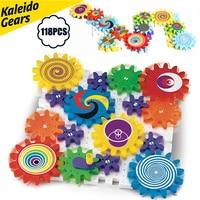 Kaleido Gears Building Set with Mosaic Mushroom Nails Construction Kit,Kaleidoscope Gear Combination Kit Educational toys