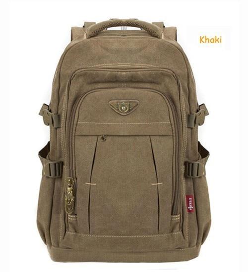 Man's Canvas Backpack Travel Schoolbag Male Backpack Men Large Capacity Rucksack Shoulder School Bag Mochila Escolar 5