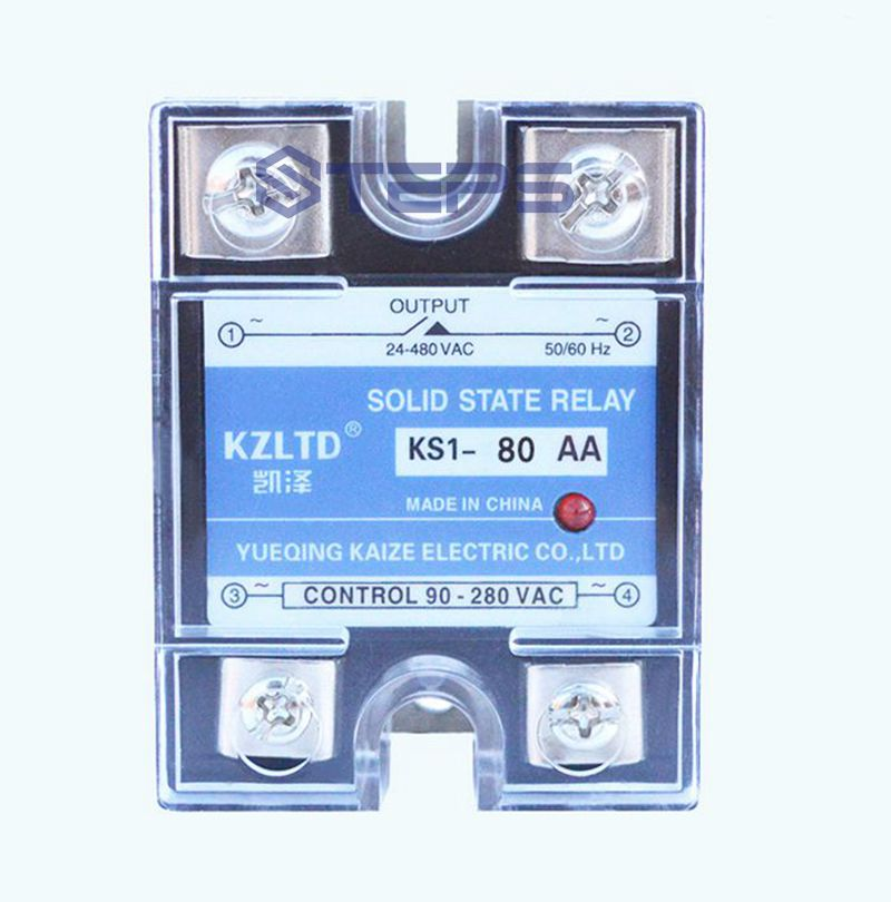 Single-phase solid state relay AC to AC 80A solid state relay non-contact contactor VAC127V 110V 220V high quality ac ac 80 250v 24 380v 60a 4 screw terminal 1 phase solid state relay w heatsink