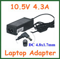 50pcs 10.5V 4.3A 45W 4.8*1.7mm AC Adapter Battery Charger for Sony Laptop Power Supply Adapter VGP-AC10V8 PA-1450-06SP