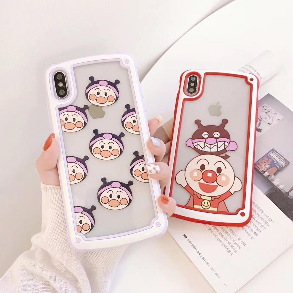 Rootgo Cartoon <font><b>Anpanman</b></font> Phone <font><b>Case</b></font> Heavy duty protection Cover For iPhoneXsmax iP8 6s 7/8plus XR Body Shell Protector image