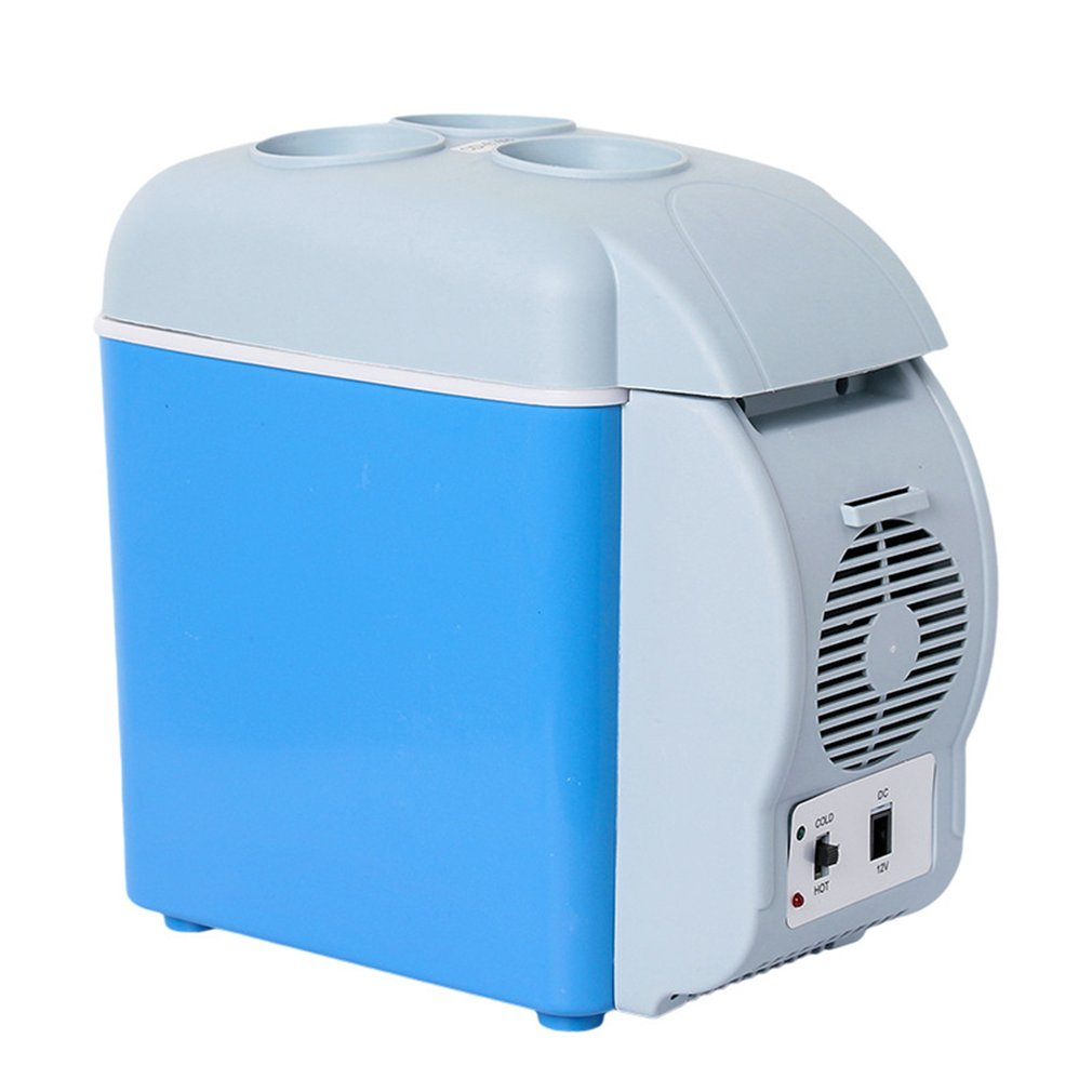 7.5L Car Refrigerator Car Travel Vehicular Fridge Dual-use Portable Hot And Cold Mini Heating And Cooling Box With Cup Holder