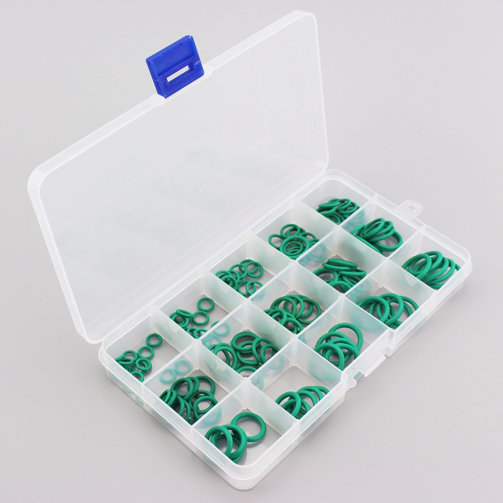 PCP Paintball Sealing Fluoro O-rings Durable Socket Rubber Green Gasket Replacements O-rings 15 Sizes Available 150PCS/1 BOX