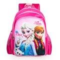 2016 Snow Queen Anna Elsa Hans girls schoolbag 3D cartoon beatiful lovely fashion backpack child kids bag quality student bags