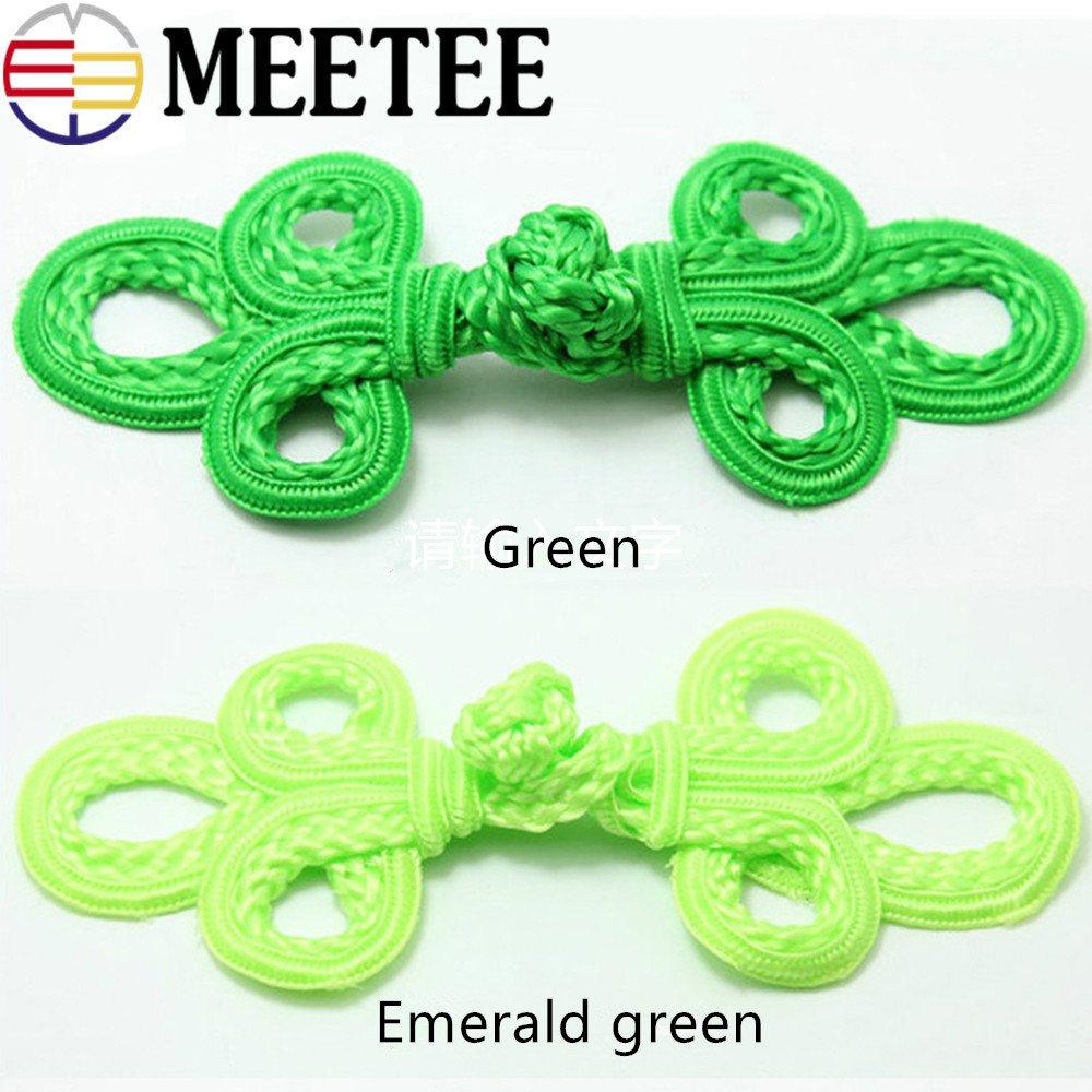 Rapture 10pcs Leaf Chinese Knot Buttons For Cheongsam Coat Tang Suits Frog Closure Decorative Buckle B5-1 Buttons