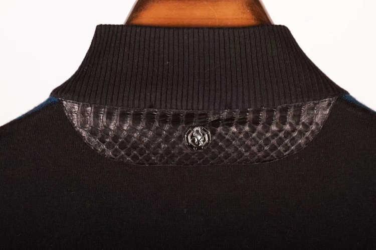 Multimillonario TACE y tiburón suéter de lana de los hombres es 2018 nuevo estilo comodidad rombo diseñado piel de cocodrilo ropa L-4XL envío gratis