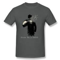 Cool T Shirt Men Plus Size Blown Music Notes Man Crewneck T Shirt Hot Selling