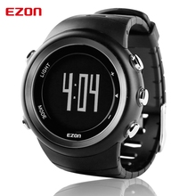 цены на EZON T023 Men's Sport Digital-watch Hours Running Fitness Calorie Counter Watches Pedometer Digital Wrist Watch for Men Women  в интернет-магазинах