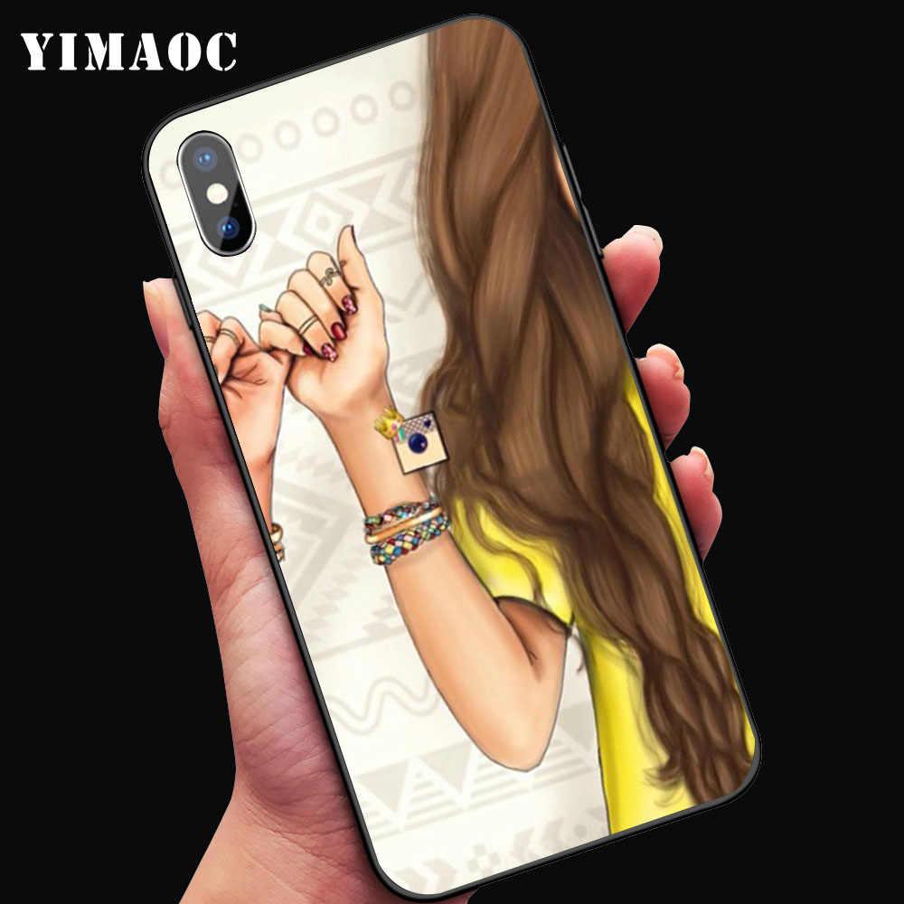 342fa1850e ... YIMAOC Best Friends BFF Matching Soft Case for iPhone XS Max XR X 7 8 6  ...