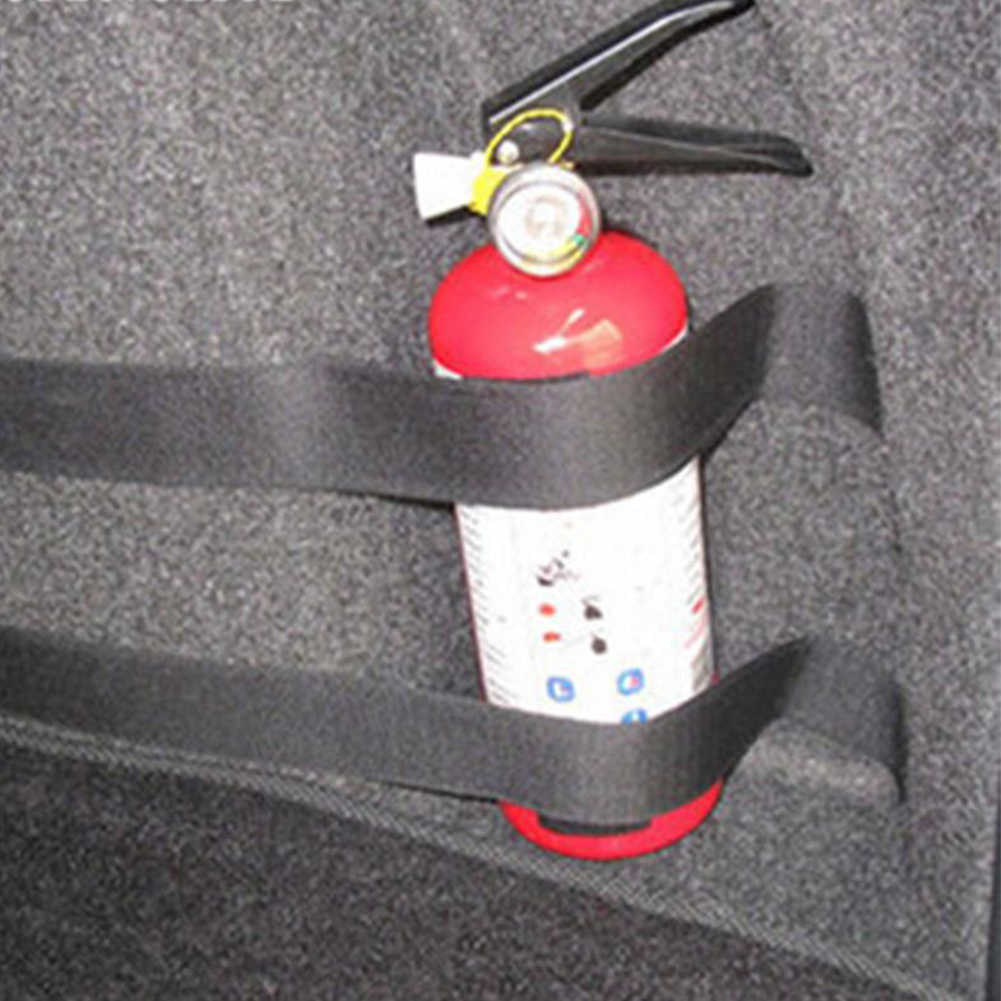 4 pièces/ensemble extincteur voiture coffre ceintures sac de rangement bandes magiques fixation bande support autocollants sangles attache voiture style