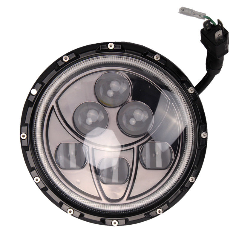 2PCS 7inch 60W Round LED Headlight with Halo Ring Day Running Light for Jeep Wrangler TJ/LJ/CJ/JK сникеры quelle bugatti 95279201