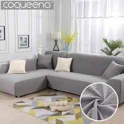 Cubiertas de 2 unidades para sofá en forma de L patrón de diamante grueso cubierta de sofá de esquina elástica sala de estar Chaise Lounge sofá cubierta seccional