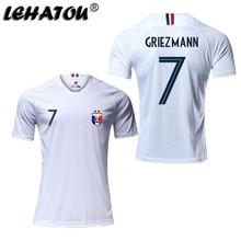 3425ae748 LEHATOU Soccer Jersey France Men Shirt Adult Football Clothes Top Qaulity  Women Sport