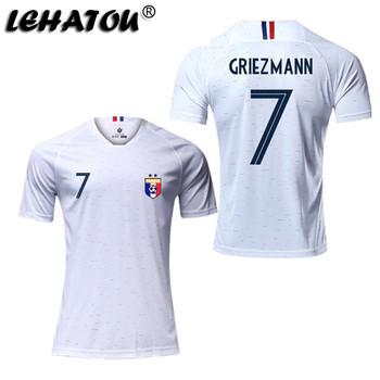 Soccer Jersey France Men Sport Shirt Adult Football Clothes Top Qaulity Women Soccer Sport Jersey MBAPPE GRIEZMANN POGBA Jersey sports jersey