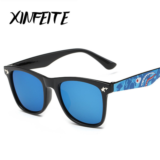 daa60566304 XINFEITE 2017 Fashion Baby Boys Girls Infant Sun Glasses Children Shadow  Coating Mirrored Luxury Sunglasses Anti-UV Child Kids