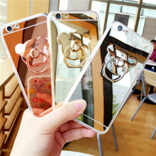 Luxury Mirror Stand Holder TPU Case For Huawei Honor Play Magic 7A 7C 8 8X 9 10 Lite Note 10 P Smart Y5 Y6 Y7 Y9 2018 Cover Capa(China)