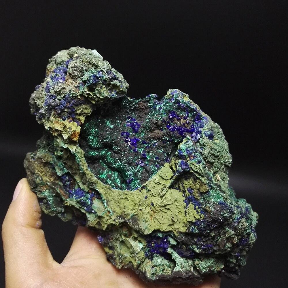1000g pierres naturelles et minéraux Malachite Azurite minerai cristal spécimens originaires de chine bleu minerai A3 H02