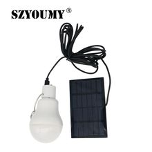 SZYOUMY Portable 15W 130LM Solar Powered Led Bulb Light Outdoor Solar Energy Lamp Lighting for Hiking Fishing Camping Tent White