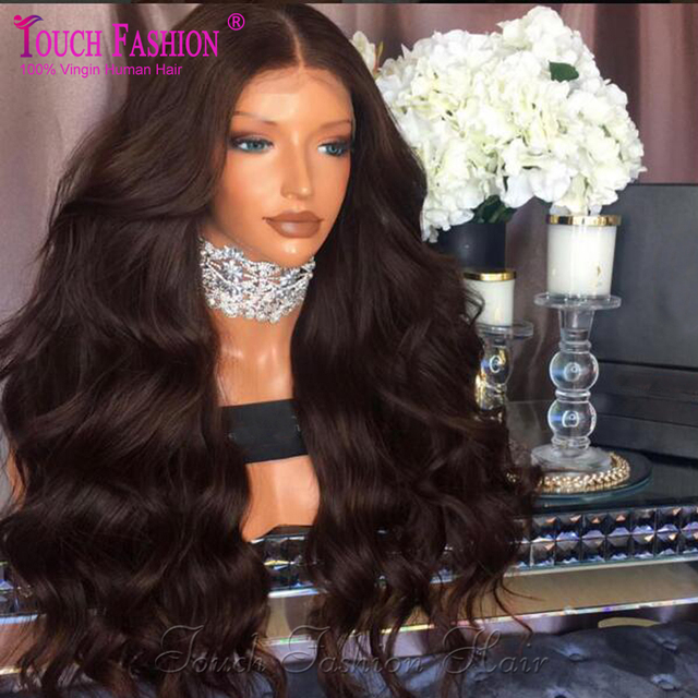 Human Hair Full Lace Wigs Black Women 200 Density Virgin Brazilian Full Lace Wig With Baby Hair Wavy Glueless Lace Front Wigs