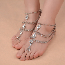 Bohemia Style Barefoot Instep Harness Maxi Huge Anklets for