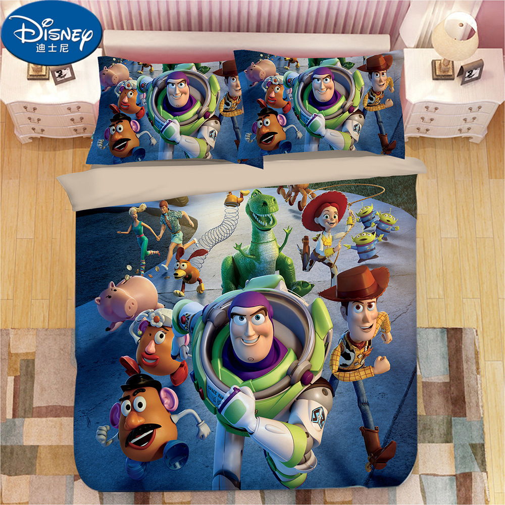Disney Toy Story Children Cartoon Bedding Set Twin Queen King Duvet Cover Set Buzz Light Year Boy Gift Bedroom Decor Bedding Sets Aliexpress