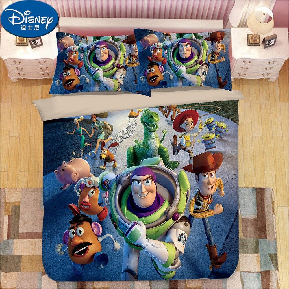 Disney Toy Story Children Cartoon Bedding Set Twin Queen King Duvet Cover Set Buzz Light Year Boy Gift Bedroom Decor