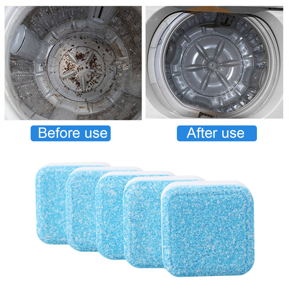 1Pcs Concentrate Cleaning Detergent Household Washer Cleaner Washing Machine Cleaning Effervescent Tablet Descaler Deep Filter
