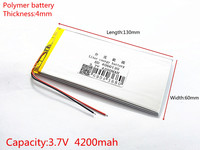Free Shipping 3 7 V Lithium Polymer Battery 4060130 Tablet Battery 4800 Mah Mobile Power