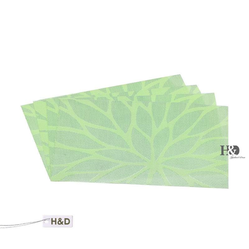 vinyl woven table placemats flowers ecofriendly home bar restaurant grid inch - Vinyl Placemats