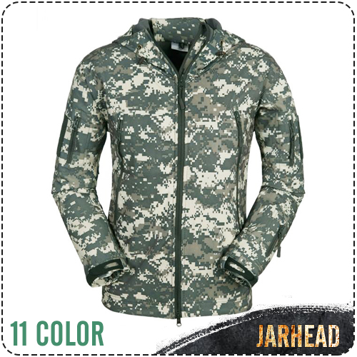 TAD Stealth Shark Skin Waterproof Military Outdoor Jacket Men Sport Softshell Hike Hunt Tactical Camouflage Army Hoodie Jackets lurker shark skin soft shell v4 military tactical jacket men waterproof windproof warm coat camouflage hooded camo army clothing