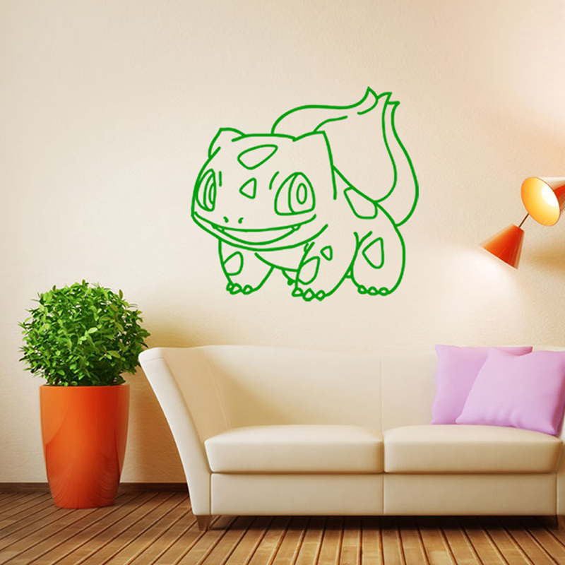 Pokemon Go Wall Stickers For Kids Rooms Home Decoration Pikachu Wall Decals  Poster Window Sticker Adesivo De Pared Wallpaper In Wall Stickers From Home  ...