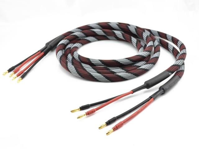Пара Золотой покрытием Аудиофилов акустический кабель 2.5 HiFi динамик кабель провод м