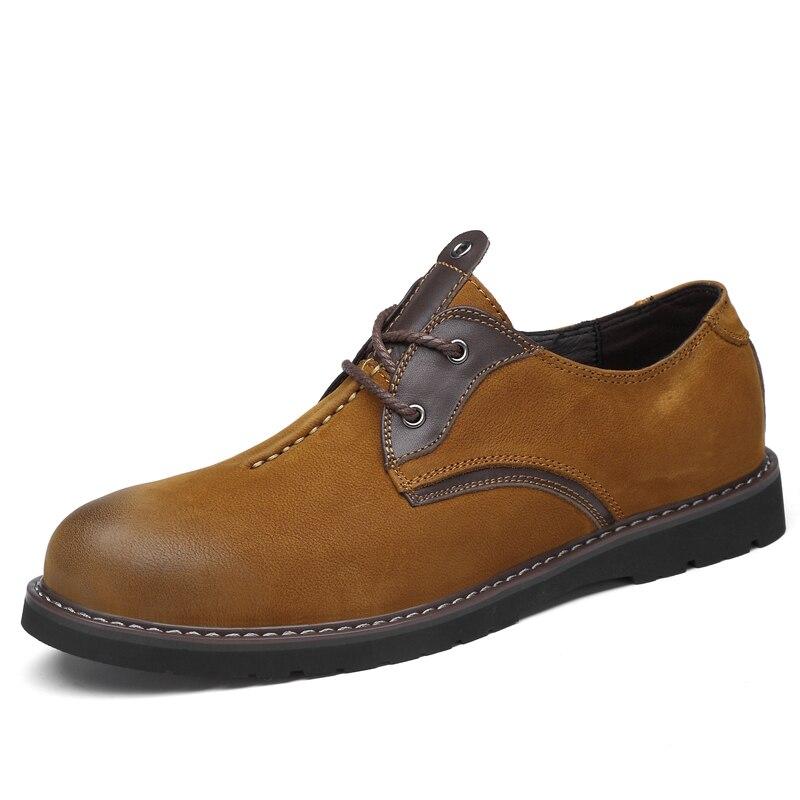 JMaiou mode italien hommes chaussures classique hommes en cuir chaussures hommes Oxfords Designer imperméable court extérieur chaussures 2019 nouveau