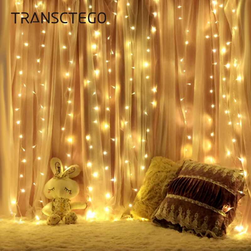 Led Curtain String Light Garland Christmas RGB Fairy Light Garden Wedding Party Holiday Decoration Lamp Fairy String Bulb Lights