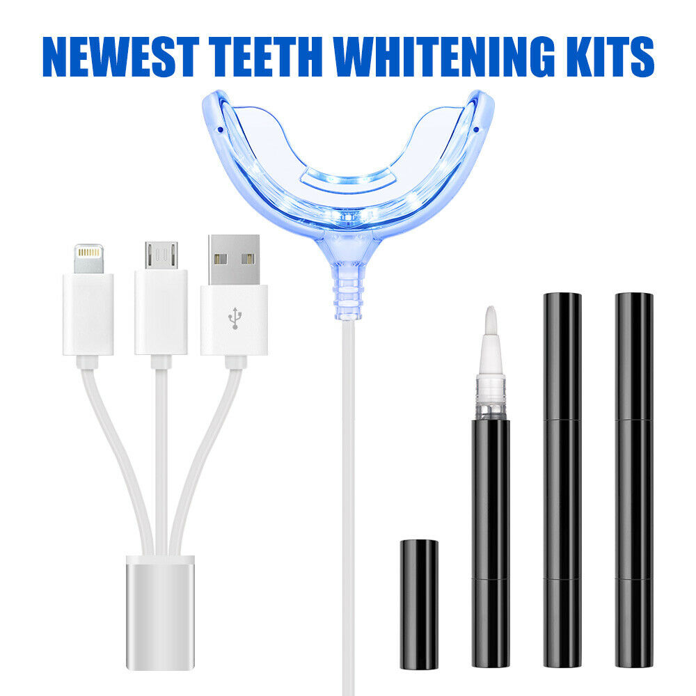 Professional Remove Stains Home Use Tooth Cleaning Tools Teeth Whitening Kit With LED Cool Light