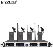 8000GT-Three Wi-fi Microphone System Skilled UHF Channel Dynamic Microphone four Channel Karaoke Microphone Wi-fi Lapel