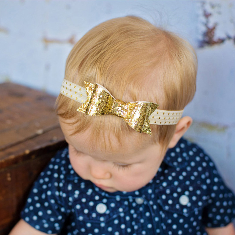 Newborn Baby Flower Headband Hair Bow Hairband Girls Sequin Hair Accessories Baby Girl Headbands Photographic props w--200