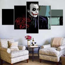 HD Printed joker Movie Poster 5 piece Modular picture Painting wall art room decor print poster canvas Free shipping