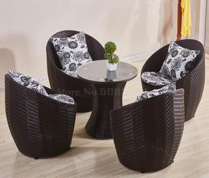 Balcony table and chair wicker chair three-piece small coffee table combination simple leisure outdoor outdoor garden chair(China)