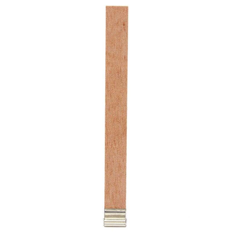 10/20/40 قطعة 6 مللي متر/8 مللي متر/9 مللي متر/10 مللي متر/13 مللي متر شموع صناعة يدوية الخشب الفتيل مع الرزاق تبويب DIY شمعة صنع إمدادات الشمع الفتيل الأساسية