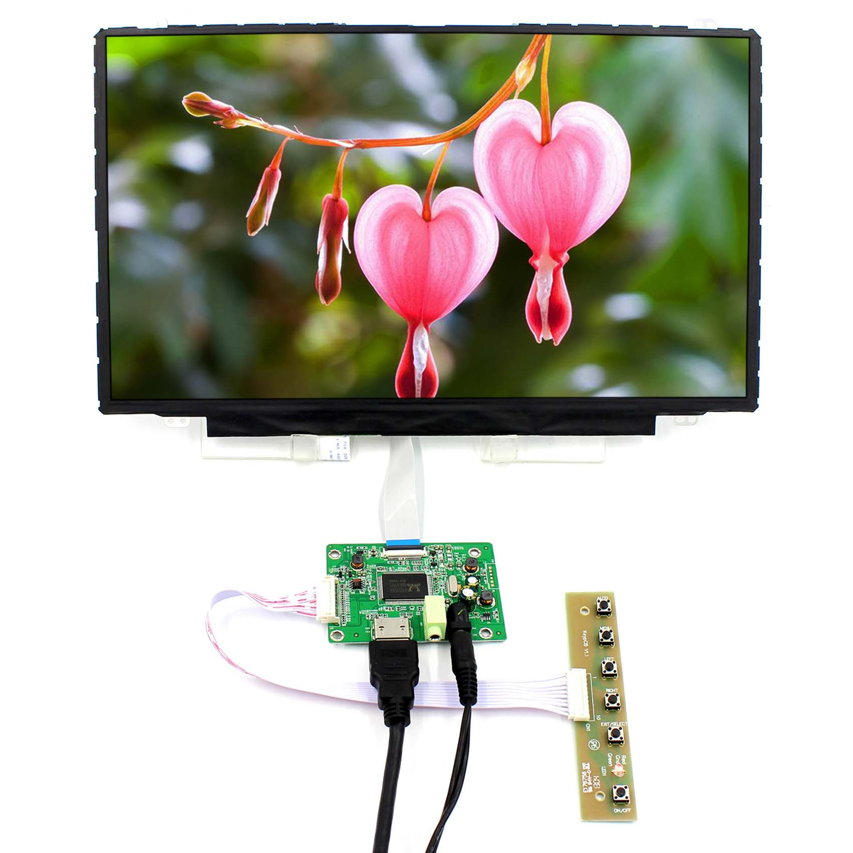 HDMI LCD Controller Board+14inch 1920x1080 NV140FHM-A20 IPS LCD ScreenHDMI LCD Controller Board+14inch 1920x1080 NV140FHM-A20 IPS LCD Screen