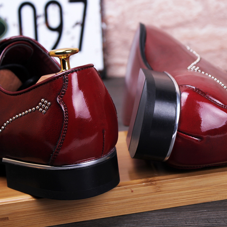 7adf619b9f34 new 2016 men brogues shoes pointed toe genuine leather rivets oxfords  italian men dress shoes red bottom shoes size 37 43-in Women s Flats from  Shoes on ...