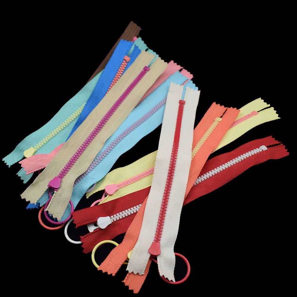 20 шт 3 # молнии с закрытым концом пластиковые застежки-молнии 15/20 Вт, 30 Вт, 40 см застежка на бегунке молнии кольцо ползунок для сумок одежды портновский пошив Craft аксессуар