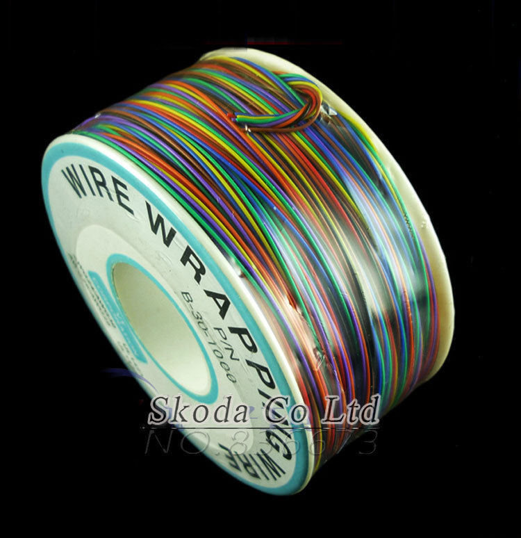 Free shipping Newest 8 color Wrapping Wire 200 Meters AWG30 Cable ok wire jumper wire high quality electrical wire wrapping wire wrap 10 colors single strand copper awg30 cable ok wire