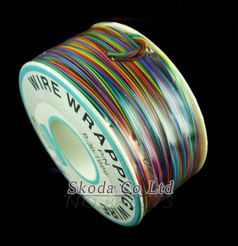 Free shipping newest 8 color wrapping wire 300 meters awg30 cable ok wire jumper wire.jpg 350x350