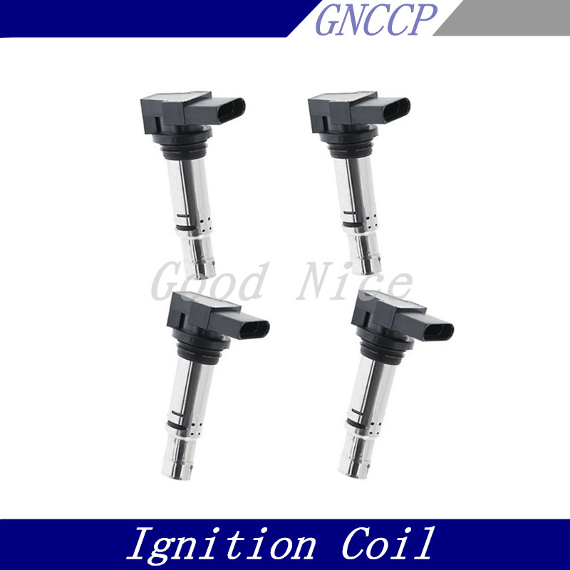 4 PCS IGNITION COIL for Audi A3 Seat Altea Ibiza Leon Skoda Fabia Octavia VW Caddy CC EOS Golf/plus 036905715 036905100A novline nlz 45 11 020 skoda octavia vw golf audi a3 2013 1 2 1 4 1 8 бензин акпп