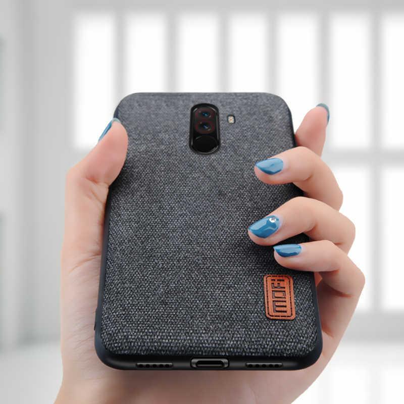 quality design 05952 c927e For Xiaomi POCOPHONE F1 case cover global POCO F1 back cover silicone  fabric protective case MOFi original POCOPHONE F1 case