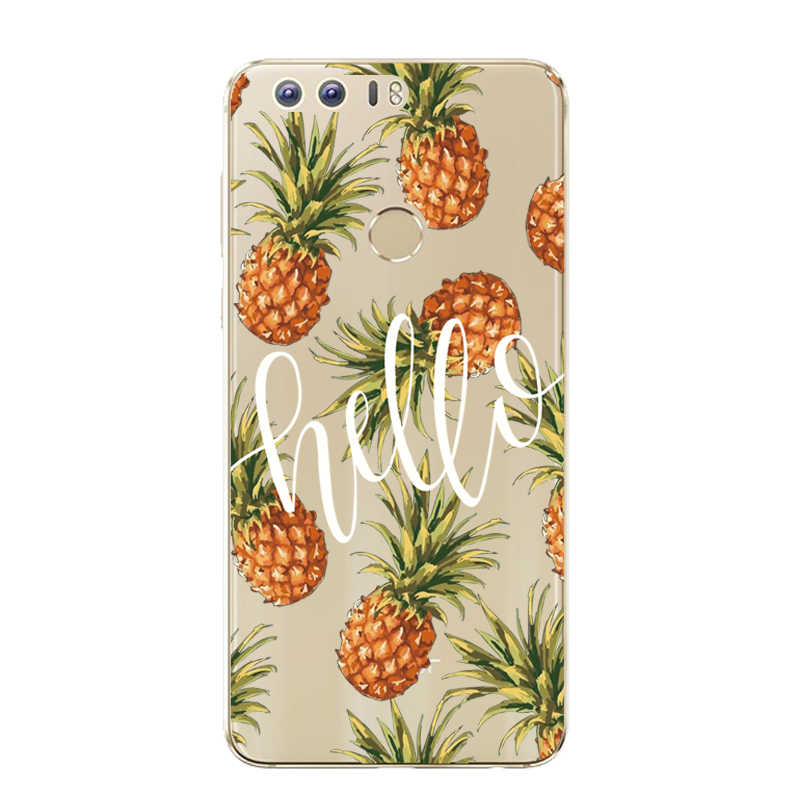 "THREE-DIAO Silicone Case Huawei Honor 8 Patterns Case Cover 5.2"" Huawei Honor 8 Soft TPU Case Back For Huawei Honor8 Phone"