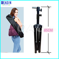 Professional Clamp Metal Hair Salon Adjustable Tripod Stand Wig Stand Hairdressing Training Mannequin Head Holder